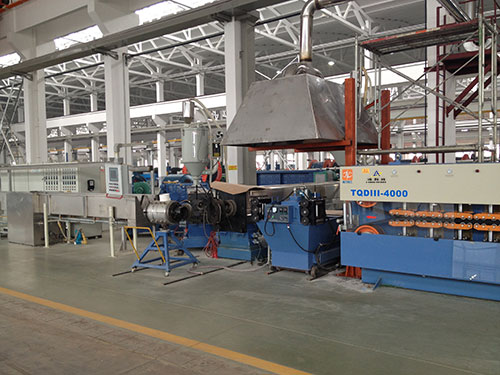 Extrusion production line of ultra high prseeure 200+120 double layer sheath